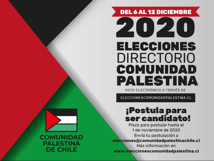 Elecciones directorio Comunidad Palestina