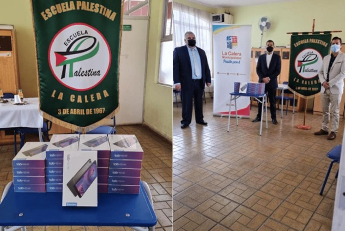 Fundación Belén 2000: Dona tablets a Escuela Palestina en La Calera