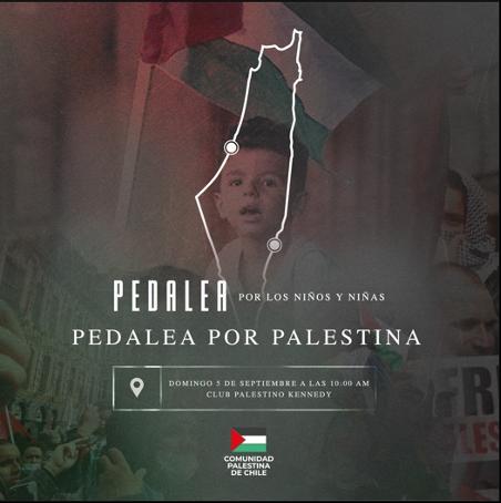 Comunidad Palestina de Chile: Realiza cicletada por Palestina